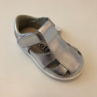 24100 Xiquets Silver Leather Sandals